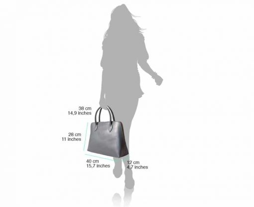 bag with leather lining in real saffiano leather Lisandra for women