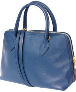 business bag handbag in saffiano genuine leather bag Pandora colour dark blue for women