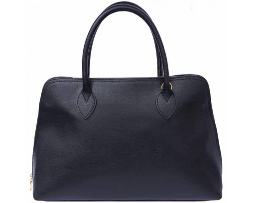 bag with leather lining in natural saffiano leather Lisandra for women