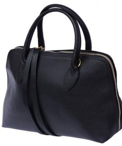 business bag handbag in saffiano genuine leather bag Pandora colour black for women