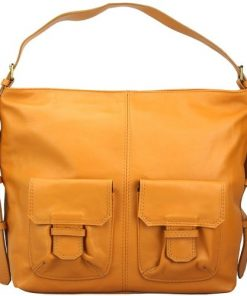 buy Shoulder bag in soft genuine leather Thelma Colour tan for woman