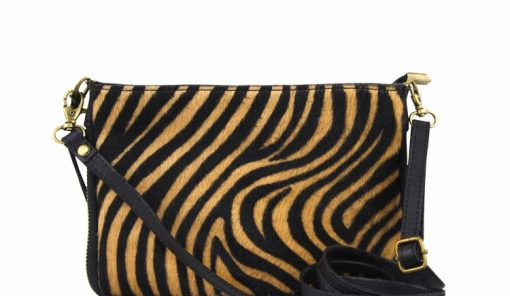 sale buy yellow black clutch Izusa in natural leather sauvage from italy discount for woman