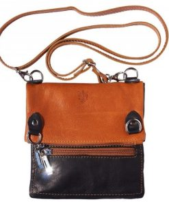black tan cross body bag in soft genuine leather Ilda for women