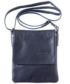 cross body bag Loredana in genuine leather colour dark blue for men