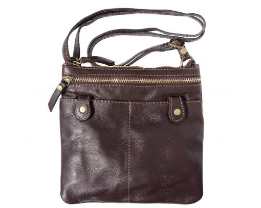brown messenger in soft leather unisex