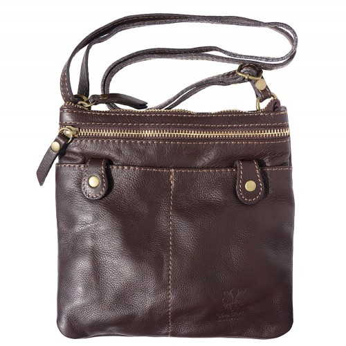 brown cross body bag from soft genuine leather Ippolita for woman