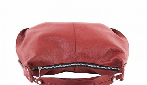 dark red shoulder bag in real leather Sibilla for women