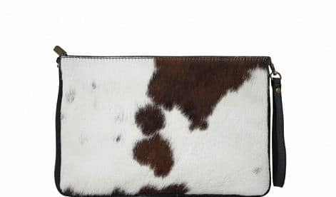clutch Izusa in genuine leather sauvage for women
