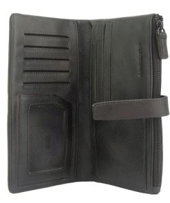 Wallet Raimonda in vintage genuine leather Colour black for women