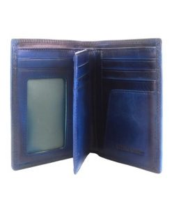 Wallet Samantha in vintage genuine leather Colour dark blue for men