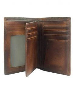 Wallet Samantha in vintage genuine leather Colour brown for men