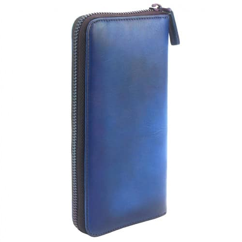 Wallet Reagan in vintage cow genuine leather Colour dark blue for men
