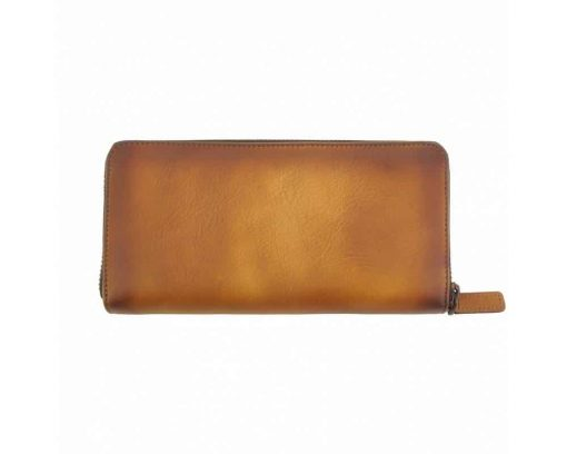 tan belt in leather with lining leather Micailo for man