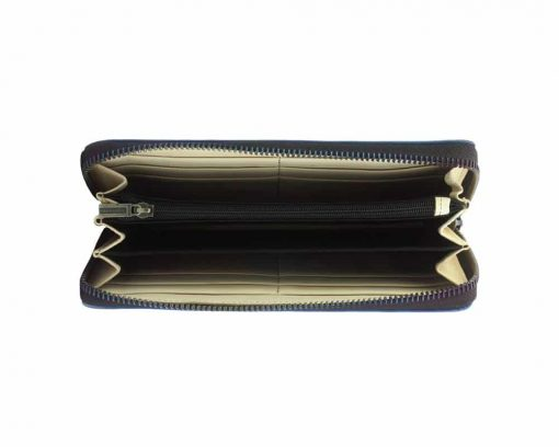 dark blue wallets Mariuca with leather lining