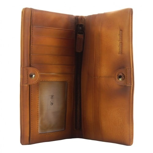 Big wallet Rolf in vintage leather Colour tan for men