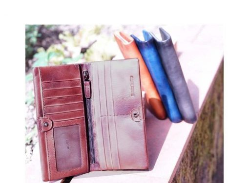 wallets in retro vintage leather Monica unisex