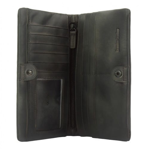 Big wallet Rolf in vintage leather Colour Black for men
