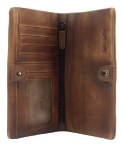 Big wallet Rolf in vintage leather Colour brown for men