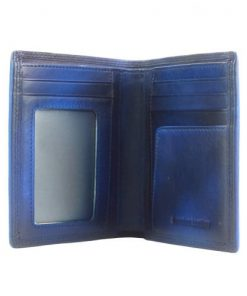 Wallet Romilda in vintage leather Colour electric blue for men