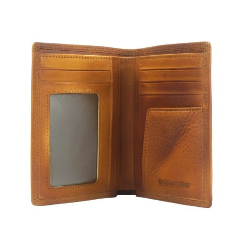 Wallet Romilda in vintage leather Colour tan for men
