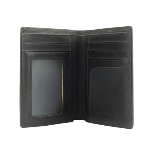 Wallet Romilda in vintage leather Colour black for men