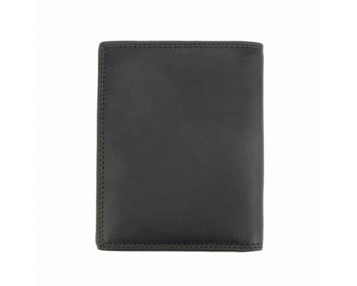 black wallet in natural leather Mirela for men