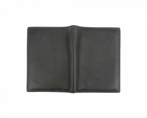 black wallet in leather Mirela man