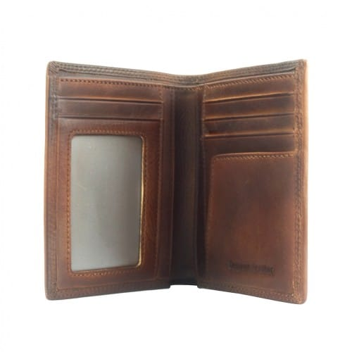 Wallet Romilda in vintage leather Colour Dark Brown for men