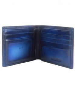 Wallet in vintage genuine leather Filippo Colour electric blue for men