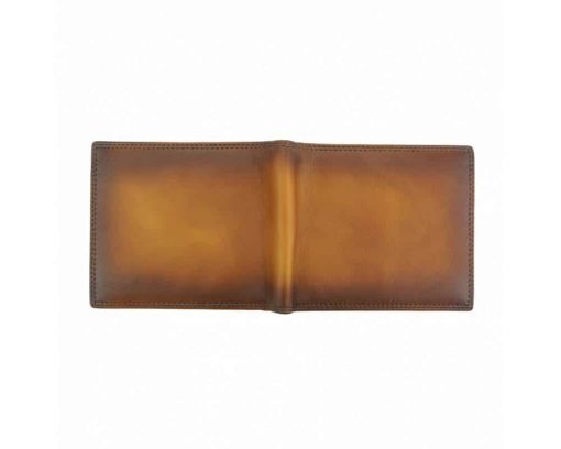 tan wallet in retro leather Narcisa for men