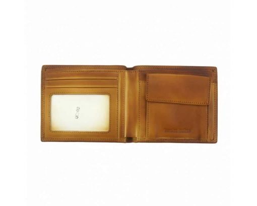 tan wallet man Narcisa in leather