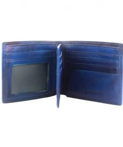 Wallet Sarad in vintage genuine leather Colour dark blue for men