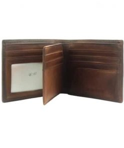 Wallet Sarad in vintage genuine leather Colour brown for men