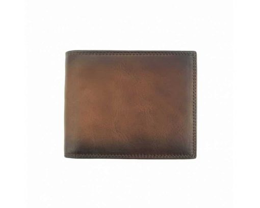 brown wallet in real leather Niculina man