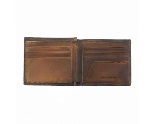 brown wallet in leather Niculina man