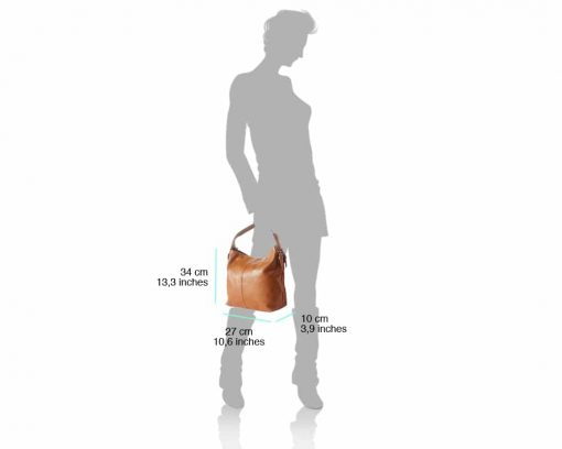 tan bags in real leather Veronica womans
