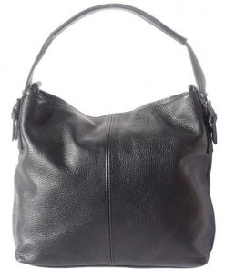 shoulder bag in genuine leather Freya colour black for women