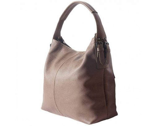 dark taupe bags in real leather Veronica for women