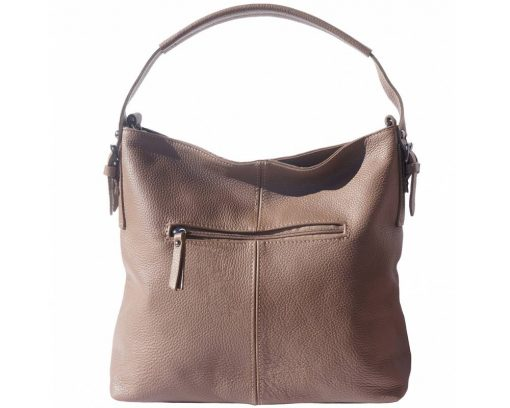 dark taupe bags in genuine leather Veronica womans