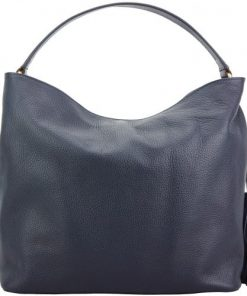 dark blue shoulder bag in soft genuine leather Aquilante women