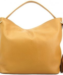 tan shoulder bag in soft genuine leather Aquilante women