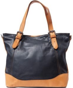 buy italian handBag in soft genuine leather Arianna Colour brown black tan for women