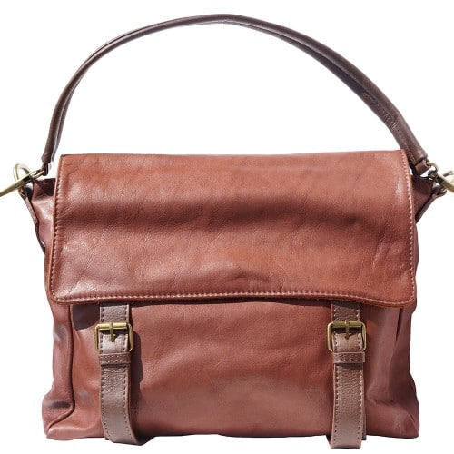 Freestyle bag in genuine leather Lynn Colour brown dark brown for men
