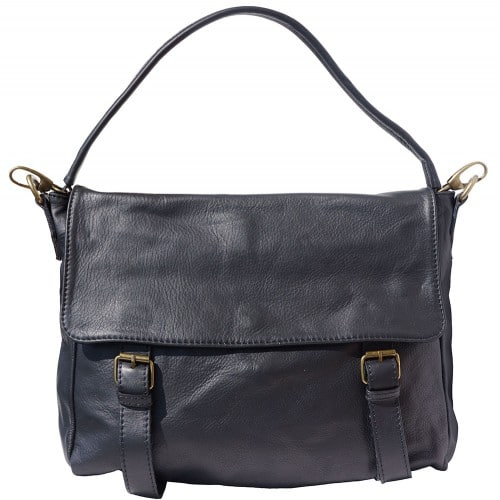 Freestyle bag in genuine leather Lynn Colour electric black for men
