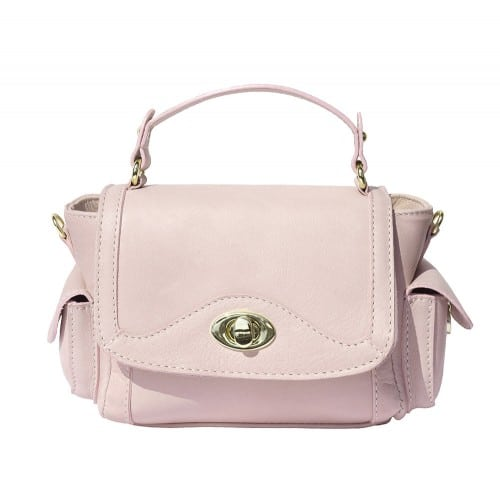 Small genuine leather handbag Enrica Colour pink for women