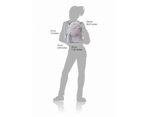 white backpack bag in real leather Aurelia unisex