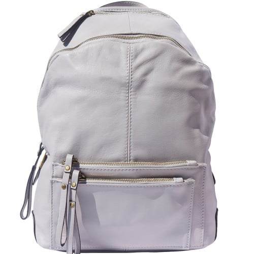 Backpack in smooth genuine calfskin Luciano Colour white for women