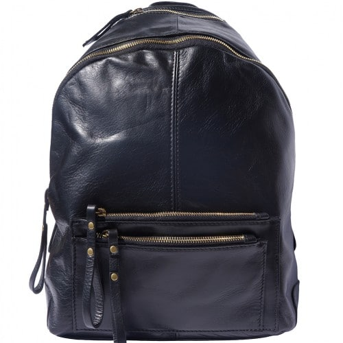 Backpack in smooth genuine calfskin Luciano Colour black for men