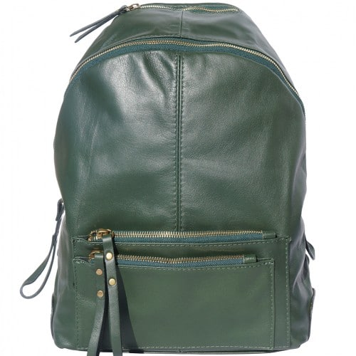Backpack in smooth genuine calfskin Luciano Colour Dark green for men