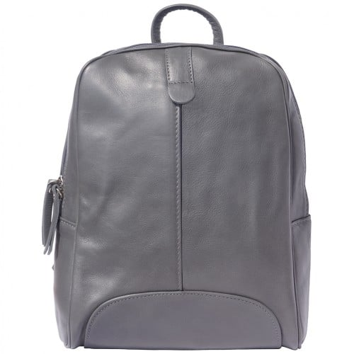 Backpack in smooth calfskin genuine leather Paola colour dark grey for men
